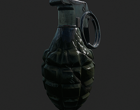 Mk 2 Grenade 3D asset game-ready