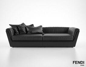 Fendi Casa Cocoon sofa 3D model