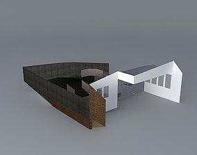 Octagonal themed garden 3D model