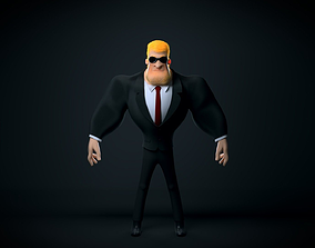Blond Bouncer 3D