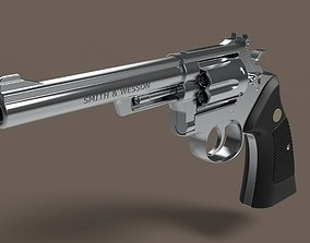 Revolver Smith and Wesson Model 22 3D