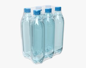 3D Wrapped water bottle six-pack