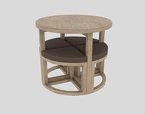 3D table chair Gambon Stowaway