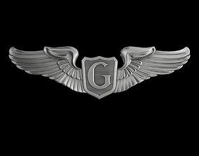 3D USAAF Glider Pilot Wings Badge