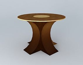 3D model Round table construction