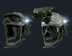3D asset Military Helmet 01 Game Ready