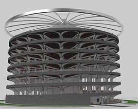 Parking Lot Building carport 3D