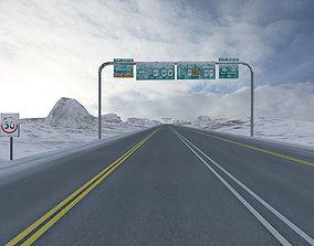 3D model highway chase track