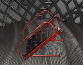 Sci-Fi Stairs - 17 - Red Version 3D model realtime