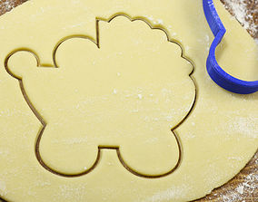 3D printable model Baby carriage cookie cutter for