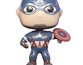 3D asset Captain America Toy