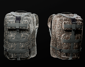 3D model customizable Military backpack 2 color variations