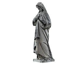 Virgin Mary Funeral Sculpture Monument 3D model