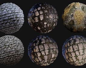 3D Cobblestone Seamless PBR Texture Pack