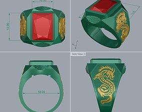 3D printable model Ring Man Modern Gemstone RM-GPR-001