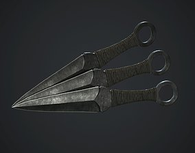 3D model Throwing Knife PBR Game Ready