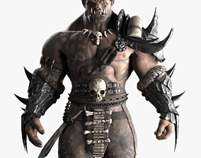 3D asset rigged Orc warrior