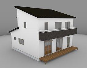 House model for background 25 3D asset