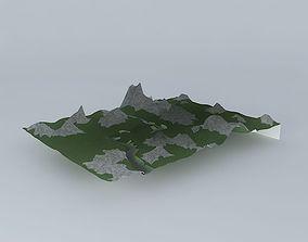 Mountains 3D model exterior