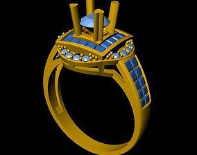 3D printable model DiamondRing 18K WhiteGold 2
