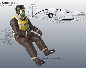 3D printable model P-51 Mustang Pilot