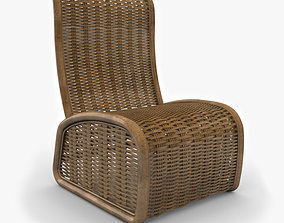 Wicker Chair 3D
