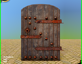 3D asset Old Wooden Door