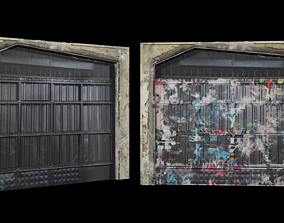 Street Door Clean And Dirty Textures 3D asset low-poly
