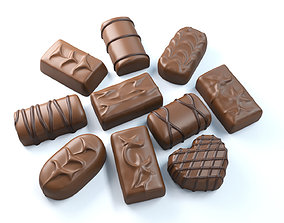 3D Chocolate Candies 03