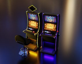 3D Slot Machines with Casino chair
