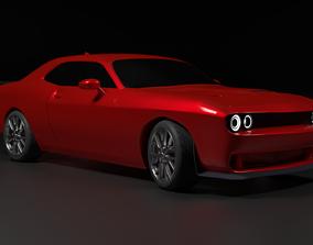 Dodge Challenger SRT 3D model racing