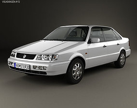 3D model Volkswagen Passat B4 sedan 1993