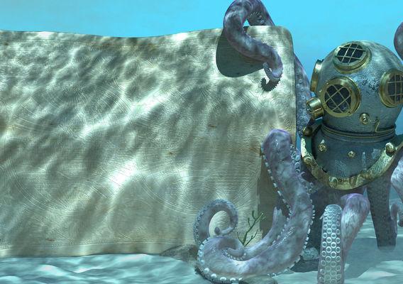 Octopus in a Diving Helmet