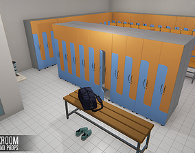 Cloackroom - interior and props 3D asset