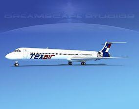 3D McDonnell Douglas MD83 Texair