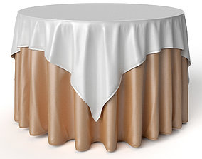 3D Round Tablecloth Oriental Restaurant