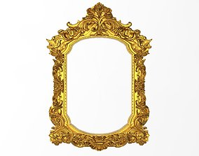 Carved Picture Frame 3D horizontal