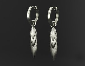 Feather earrings 3D printable model