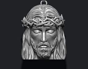 3D print model jesu Jesus head pendant
