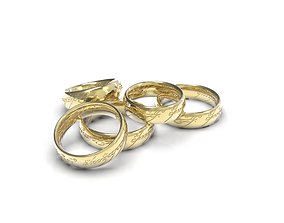 3D printable model 5 sizes of ring from the movie Lord 2
