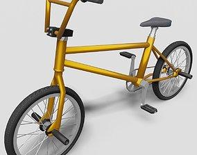BMX Bike - Orange 3D asset