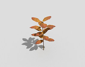 glass Low poly Plant 3D model game-ready