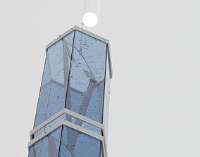 3D model Blue Sconce Lamp