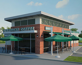 3D model Starbucks Restaurant 01