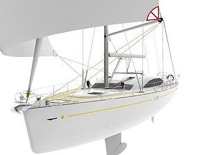 marina Yacht 3D asset game-ready