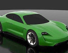 3D Porsche Mission E -Taycan 2019