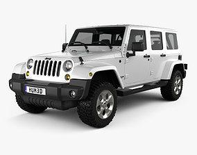 3D Jeep Wrangler Unlimited Sahara 2012