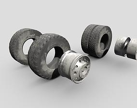 3D model Wheels Gameready