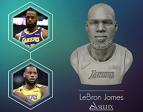 Lebron James in Lakers jersey Ready to 3D print