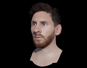 VR / AR ready Lionel Messi Head 3d model